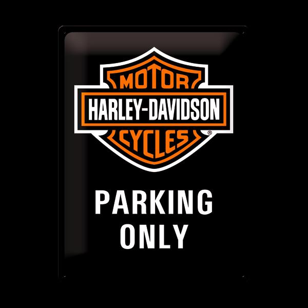 "Blechschild ""Harley-Davidson - Parking Only"" (30 x 40 cm)"