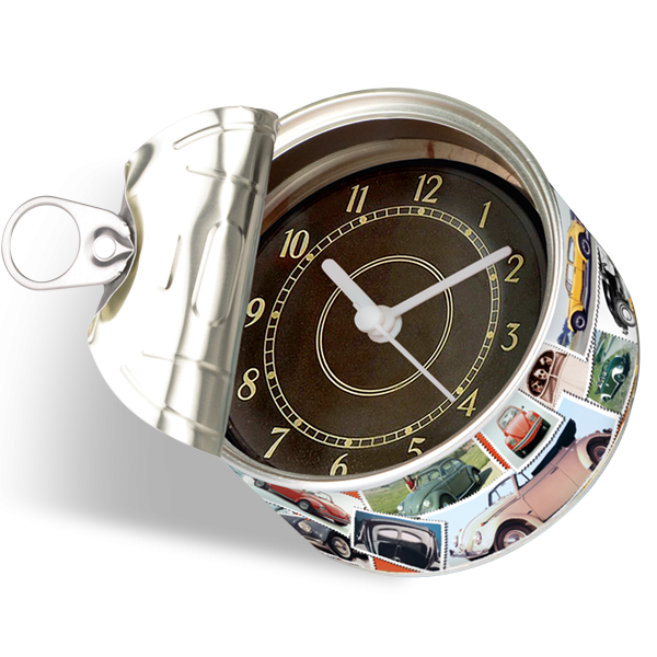 "Uhr in Konservendose ""VW Käfer Tacho"""