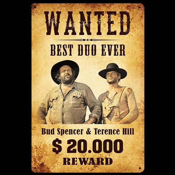 "Bud Spencer Blechschild ""Best Duo ever"""