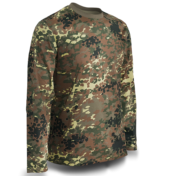 "Langarmshirt ""Camo-Style Flecktarn"""