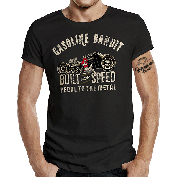 "T-Shirt ""Pedal to the Metal"" von Gasoline Bandit"