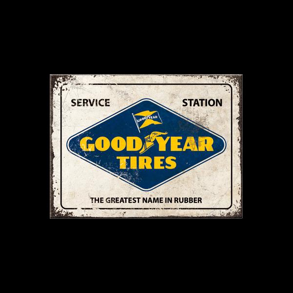Goodyear Blechpostkarte