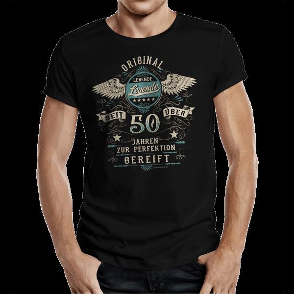 """T-Shirt """"50 Jahre – lebende Legende"""""""