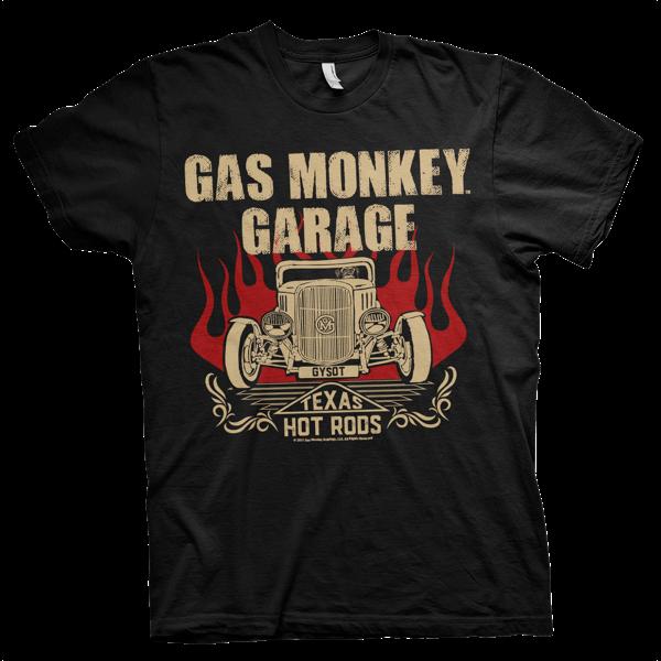 "Gas Monkey Garage T-Shirt ""Texas Hot Rods"" (bis 4XL)"