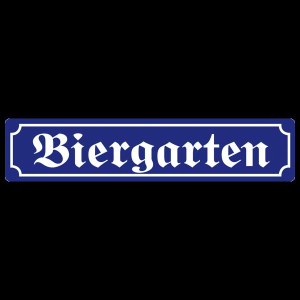 """Straßenschild """"Biergarten"""""""