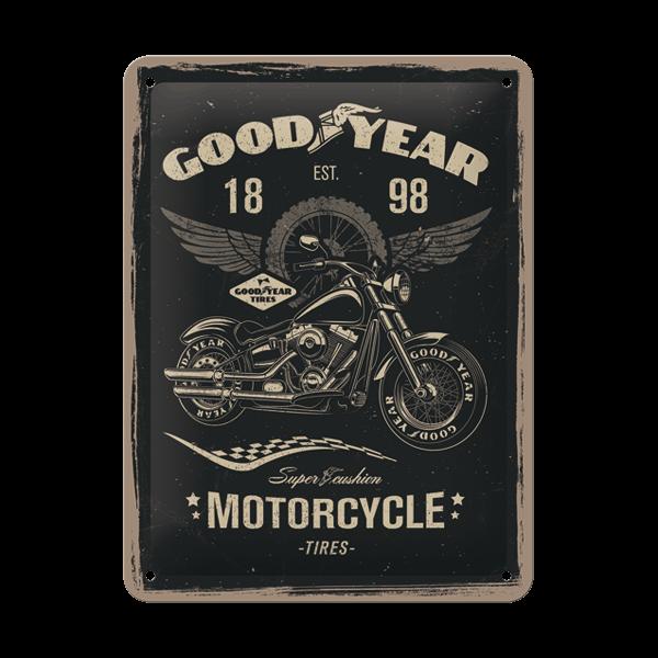 "Goodyear Blechschild ""Motorcycle"" (30 x 40 cm)"