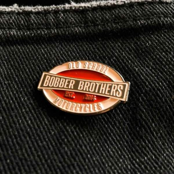"Pin ""Vintage Logo"" von Bobber Brothers"