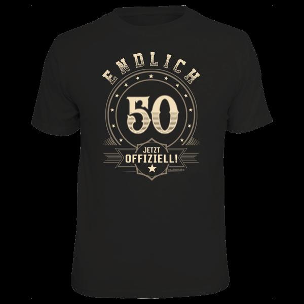 """T-Shirt """"Endlich 50"""""""