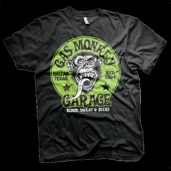 Gas Monkey Garage Green Logo T-Shirt